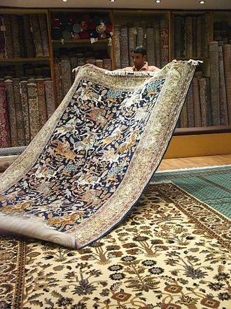 Culture of Rajasthan - A carpet seller in Jaipur