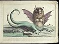 A harpy with two tails, horns, fangs, winged ears, and long Wellcome V0023077.jpg
