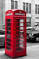 A red telephone box in London, UK.jpg