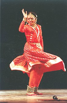 A still of Sunayana Hazarilal Agarwal who will be presented with the Sangeet Natak Akademi Award for Kathak Dance by the President Dr. A.P.J Abdul Kalam in New Delhi on October 26, 2004.jpg