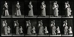 A woman with two children. Photogravure after Eadweard Muybr Wellcome V0048634.jpg
