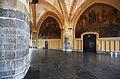 Aachen city hall, Fresken der Ostwand im Krönungssaal.jpg