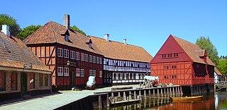 Open-air museum in Aarhus, Denmark
