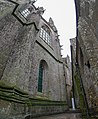 Abbey façade and gargoyles on top - Mont St Michel (32767721262).jpg