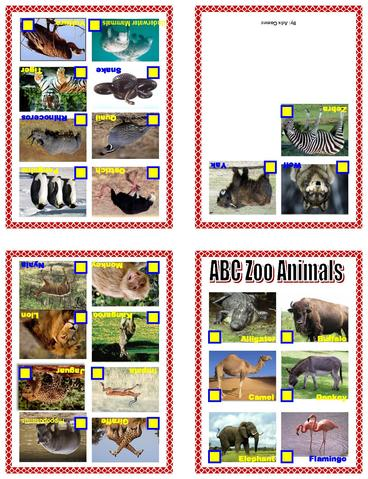 Zoo Animal Alphabet Coloring Pages Groups