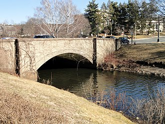 Aberjona River - The river just below the Mill Pond in Winchester center