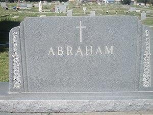Malouf Abraham Sr. - Abraham family grave marker