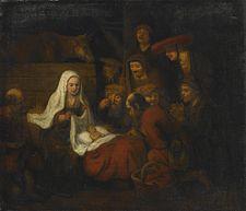 Abraham van Dyck Adoration of the Shepherds