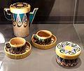Achille luciano mauzan per laboratorio nuova ceramica romana, servizio da caffè, 1921, 01.jpg