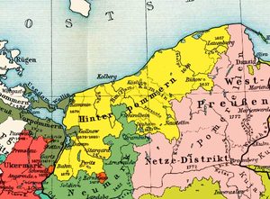 "Farther Pomerania - Farther Pomerania in 1800 (""Hinterpommern"", yellow)"