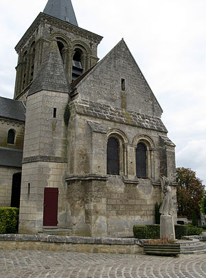Acy, Aisne - The church of Acy