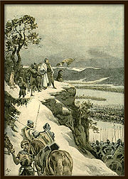 Adolf Liebscher - Jiří z Poděbrad nad obklíčenými vojsky.jpg