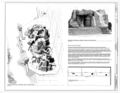 Aerial View of Block 1 Fountain, view to southeast, and Perspective view of Block 1 Fountain, view to the northwest - Skyline Park, 1500-1800 Arapaho Street, Denver, Denver HALS CO-1 (sheet 6 of 11).png