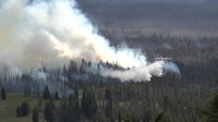 Файл:Aerial firefighting operations in Oregon.webm