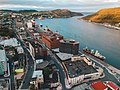Aerial view of St. John's, Newfoundland at sunset by photographer Erik Mclean of Introspective Design.jpg