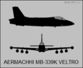 Aermacchi MB-339K two-view silhouette.png