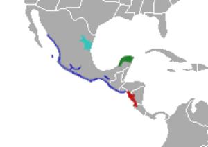 Agkistrodon bilineatus - Image: Agkistrodon bilineatus range map