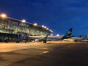 Turin Airport - Apron view