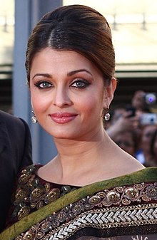 Aishwarya Rai gently smiles at the camera