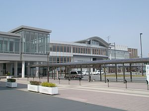 Akita Station - The station building in 2008.