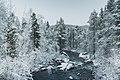 Alajoki towards north in Inari, Lapland, Finland, 2017 November.jpg