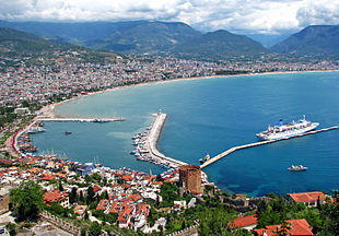 Alanya city center and harbor