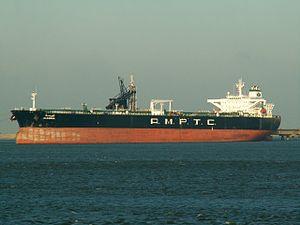 Aldawha - IMO 9127148 - Callsign A7GQ p1 at the '8e Petroliumhaven', Port of Rotterdam, Hollad 25-Feb-2006.jpg