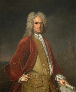 Alexander Spotswood - Portrait (1736) by Charles Bridges. Collection of Colonial Williamsburg