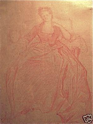 Marie Brûlart - Image: Alexandre Cabanel, portrait de la Duchesse de Luynes, étude préparatoire