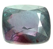 Partially faceted alexandrite