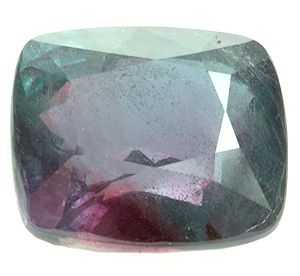 Partially faceted alexandrite