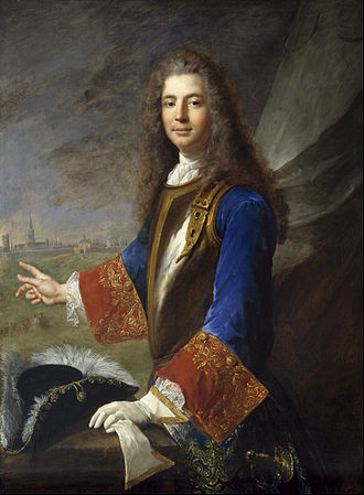 Alexis Simon Belle - Portrait by Alexis Simon Belle of  Charles-François-Marie de Custine, Chevalier de Wiltz