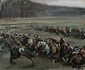 Alfred Munnings - Charge of Flowerdew's Squadron (1918), Canadian War Museum