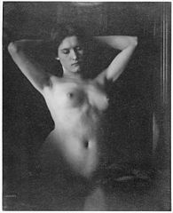 Alfred Stieglitz--Female Nude with Hands Clasped Behind Head-, Clarence H. White, 1907.jpg