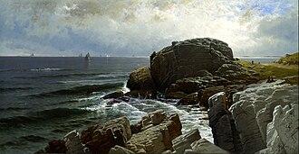 Alfred Thompson Bricher - Castle Rock, Marblehead (1878), Smithsonian American Art Museum