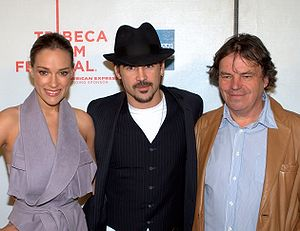 Neil Jordan - Jordan with Alicja Bachleda-Curuś and Colin Farrell at the Ondine premiere, 2010 Tribeca Film Festival in New York