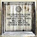 All Saints, Elm Grove Road, London W5 - Foundation stone - geograph.org.uk - 1716647.jpg