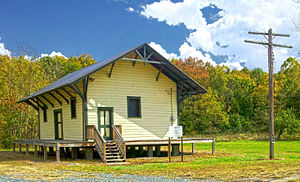 National Register of Historic Places listings in Warren County, New Jersey - Image: Allamuchy Freight House 2012 09 30