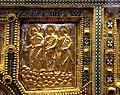 Altare di s. ambrogio, 824-859 ca., fronte dei maestri delle redentore tra apostoli e simboli evangelisti 04.jpg
