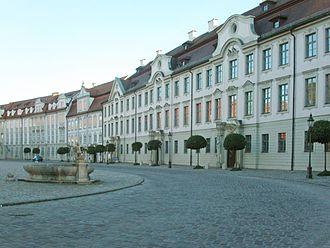 Eichstätt - Residenzplatz in the centre of Eichstätt
