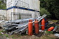 Aluminium waste and LPG bottles at Hatfield Broad Oak Essex England.JPG