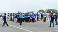 Alumni of Chung Cheng Armed Forces Preparatory School Drum Corps Gathering before Performance at Ching Chuang Kang AFB 20140719.jpg