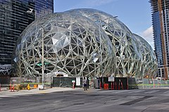 Amazon Spheres from 6th Avenue, March 2017.jpg
