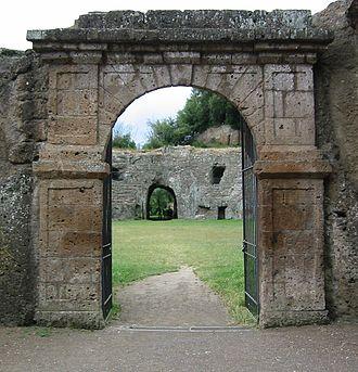 Sutri - Entrance to the amphitheatre of Sutri