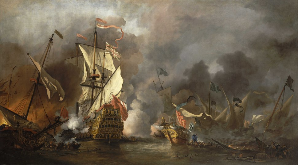 An English Ship in Action with Barbary Vessels RMG BHC0893.tiff