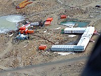 An ariel view of the Indian Station Maitri, Antarctica on February 2,2005 (1).jpg