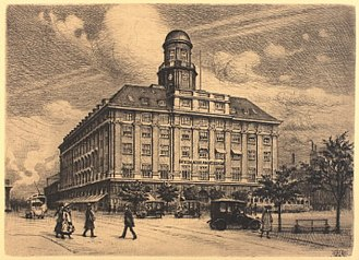 Axelborg - Axelborg in 1926, drawing by Peter Tom-Petersen