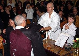 Andreas Wisniewski - Wisniewski with his son at a Zen Buddhist ceremony, 5 January 2005