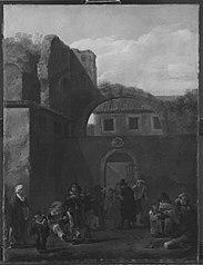 Armenspeisung im Klosterhof