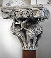 Anonyme toulousain - Chapiteau de colonne appliquée , Lions mordant des lianes - Musée des Augustins - ME 241 (1).jpg